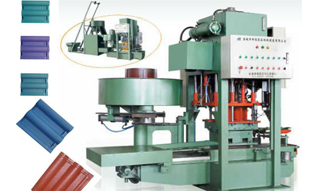 JS120-8 Automatic Cement Tile Making Machine